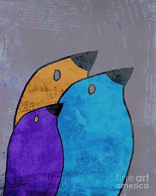 Primary Colors Digital Art - Birdies - 02ac2bb by Variance Collections