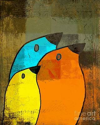 Birdies - C02tj1265c2 Art Print by Variance Collections