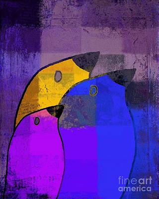 Primary Colors Digital Art - Birdies - C02tj126v5c35 by Variance Collections