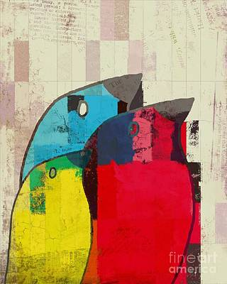 Primary Colors Digital Art - Birdies - J039088097a by Variance Collections