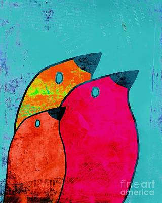 Primary Colors Digital Art - Birdies - V03a by Variance Collections