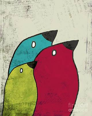 Primary Colors Digital Art - Birdies - V101s1t by Variance Collections