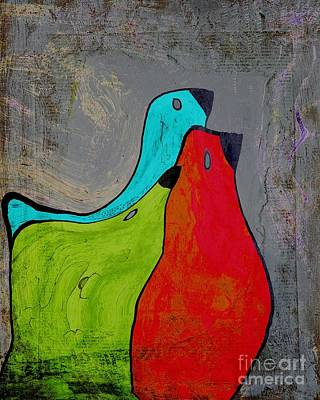 Primary Colors Digital Art - Birdies - V110b by Variance Collections