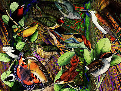 Digital Art - Birdland by Joseph Mosley
