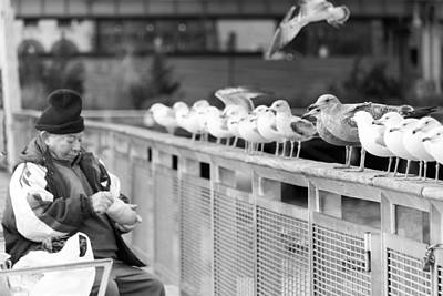 Photograph - Birdman Of Lower Manhattan by SR Green