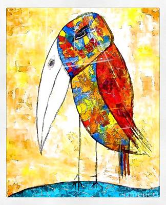 Digital Art - Bird 4171 by Marek Lutek