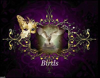 Digital Art - Birds by Ali Oppy