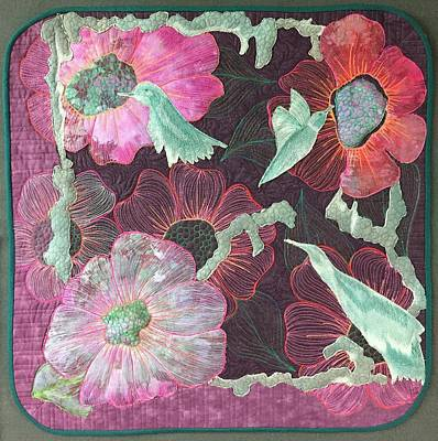 Tapestry - Textile - Birds And Blooms by Jo Baner