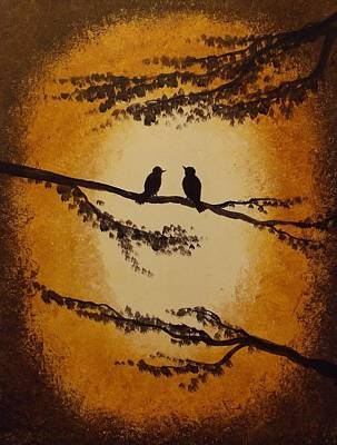 Painting - Birds And Branches by Sunshine Ammerman