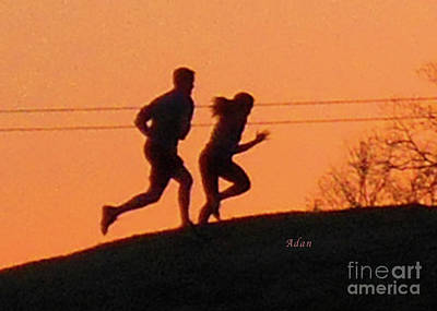 Photograph - Birds And Fun At Butler Park Austin - Jogging - Sunset Run by Felipe Adan Lerma