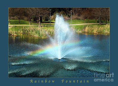 Butler Park Austin Texas Photograph - Birds And Fun At Butler Park Austin Rainbow Fountain Greeting Card Poster by Felipe Adan Lerma