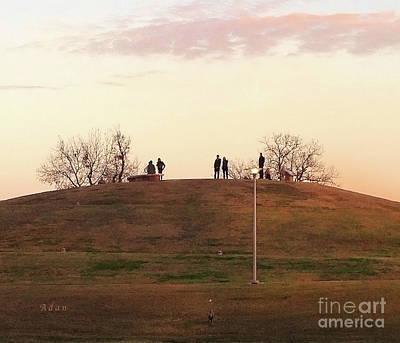 Butler Park Austin Texas Photograph - Birds And Fun At Butler Park Austin - Silhouettes 1 Macro by Felipe Adan Lerma