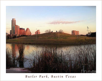 Butler Park Austin Texas Photograph - Birds And Fun At Butler Park Austin - Silhouettes 1 Poster And Greeting Card by Felipe Adan Lerma