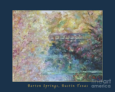 Photograph - Birds Boaters And Bridges Of Barton Springs - Autumn Colors Pedestrian Bridge Greeting Card Poster by Felipe Adan Lerma