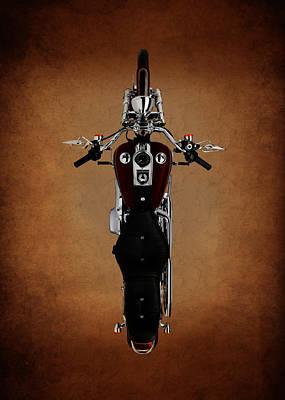 Antique Harley Davidson Photograph - Birds Eye Harley by Mark Rogan
