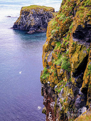 Photograph - Birds Eye View Antrim Coast Northern Ireland by Lexa Harpell