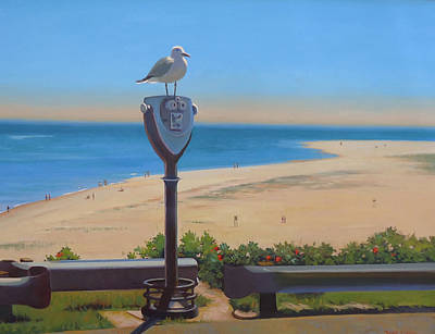 Chatham Lighthouse Painting - Bird's Eye View by Dianne Panarelli Miller