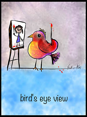 Digital Art - Birds Eye View by Mary Eichert