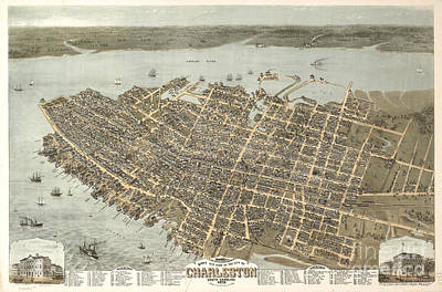 Photograph - Birds Eye View Of Charleston by Dale Powell