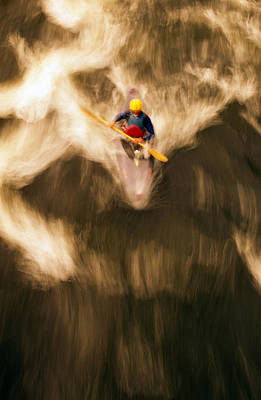 Birds-eye View Of Kayaker Art Print by Panoramic Images