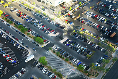 Photograph - Birds Eye View Of Las Vegas Parking by Marilyn Hunt