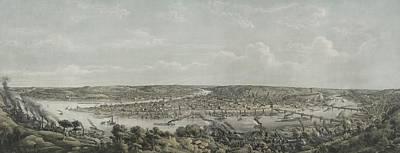 Birds-eye View Of Pittsburgh Print by Everett