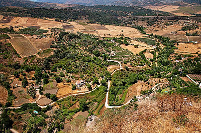 Photograph - Bird's Eye View Of Ronda Valley by Jenny Rainbow