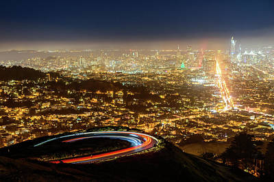 Photograph - Bird's Eye View Of San Francisco 1 by Jason Chu