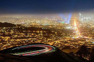 Photograph - Bird's Eye View Of San Francisco 2 by Jason Chu