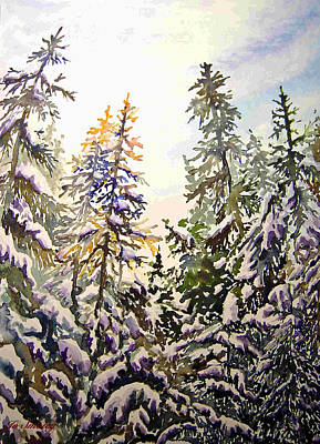 Painting - Birds Hill Park One Late Afternoon In January by Joanne Smoley
