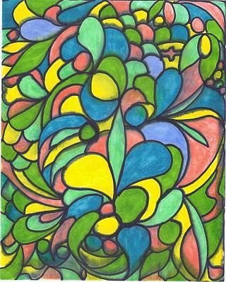 Painting - Birds In A Tree by Wayne Potrafka
