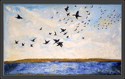 Painting - Birds In Flight At Pushkar by Anand Swaroop Manchiraju