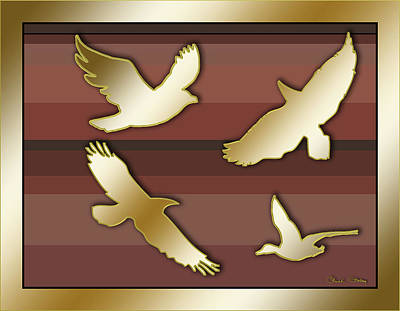 Digital Art - Birds In Flight by Chuck Staley