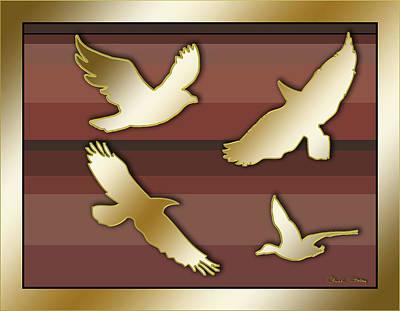 Digital Art - Birds In Flight by Chuck Staley