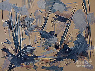 Painting - Birds In The Tall Reeds by Nancy Kane Chapman