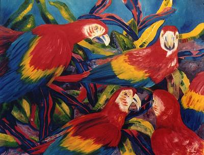 Painting - Birds In The Wild by Lisa Boyd