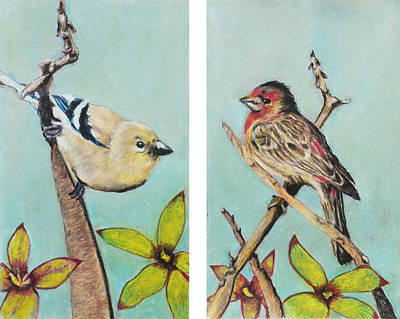 Painting - Birds by Jeanne Fischer