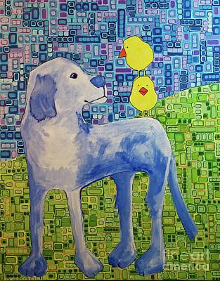 Painting - Birds Just Have Questions by Donna Howard