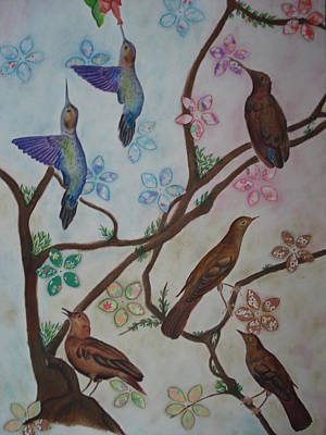 Birds Art Print by Latha  Vasudevan