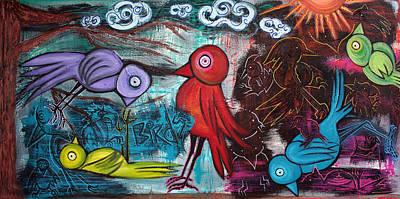 Bluebird Mixed Media - Birds by Laura Barbosa