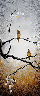 Nature Abstracts Painting - Birds by Mike Irwin