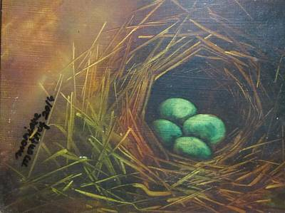 Painting - Bird's Nest by Monique Montney