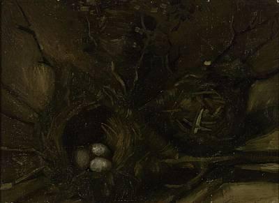Painting - Birds  Nests Nuenen September  October 1885 Vincent Van Gogh 1853  1890 by Artistic Panda