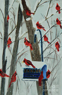 Painting - Birds Of A Feather by Jeanette French