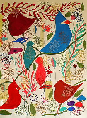 Birds Of A Feather Original by Judith Fox-Hogg