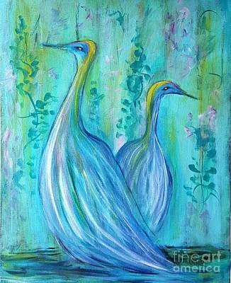 Painting - Birds Of A Feather by Karen Day-Vath