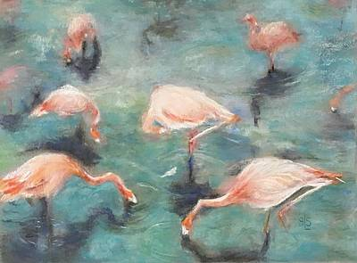 Painting - Birds Of A Feather by Sandra Lee Scott