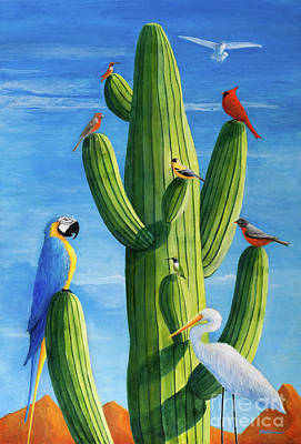 Painting - Birds Of A Feather by Sandra Neumann Wilderman