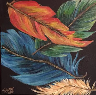 Whimsical Painting - Birds Of A Feather by Susan Peters