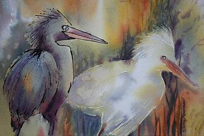 Painting - Birds Of A Feather by Tara Moorman